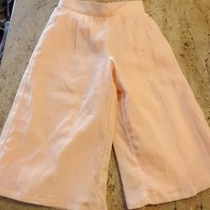 Janie and Jack Pleated Wide-Leg Peach 4t